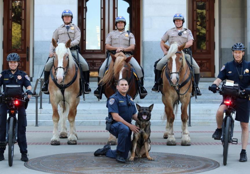 Group of Officers in Front Of The Capitol