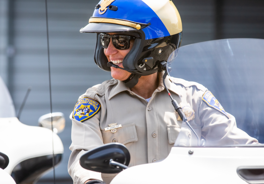 Highway Patrol Officer Smiling
